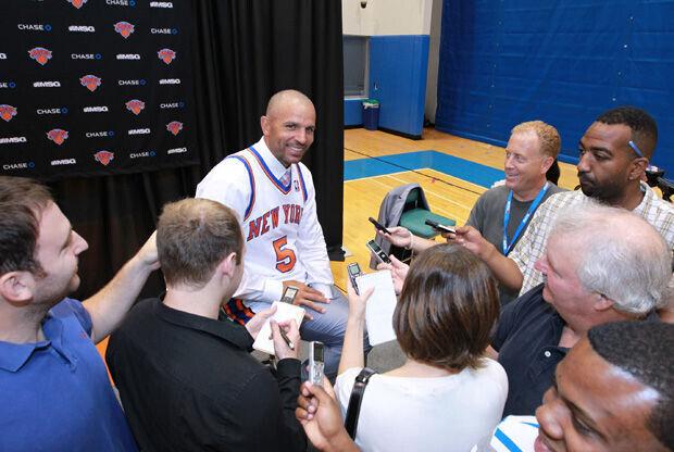 Jason Kidd atiende a la prensa el día de su presentación con los Knicks./ Getty