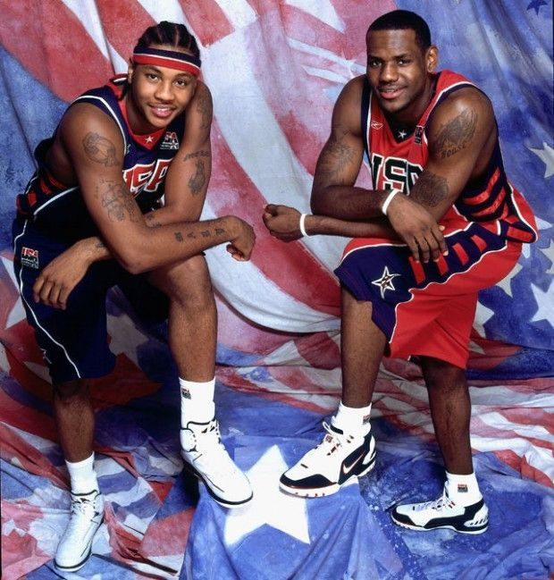 Carmelo Anthony, LeBron James./ Getty Images