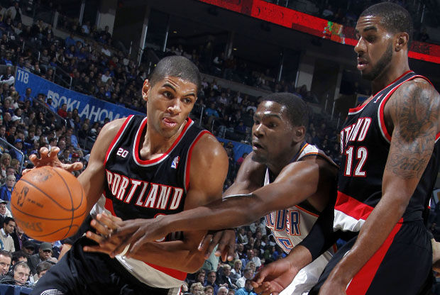 Nicolas Batum y LaMarcus Aldridge./ Getty Images