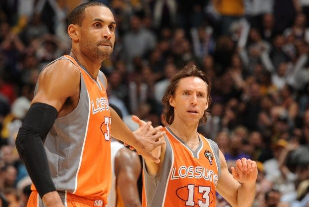 Grant Hill y Steve Nash./ Getty Images
