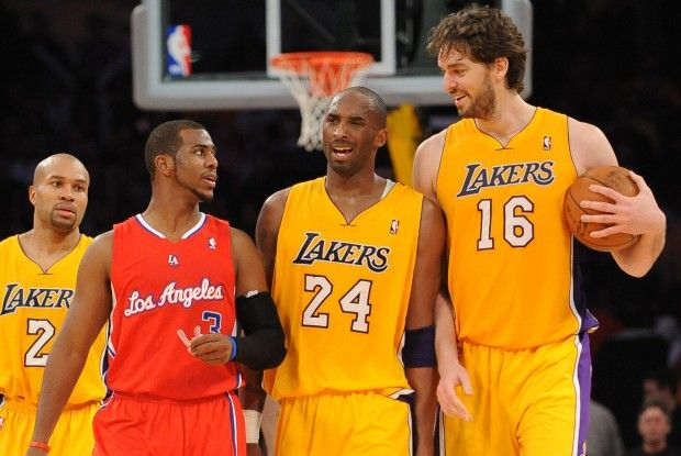 Chris Paul, Kobe Bryant, Pau Gasol./ Getty Images