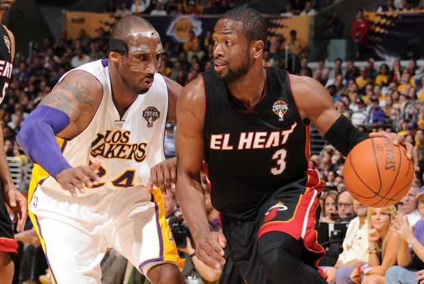 Dwyane Wade y Kobe Bryant./ Getty Images