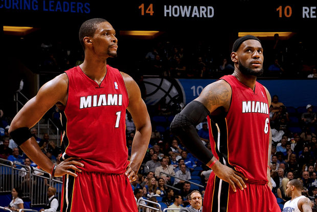 Chris Bosh y LeBron James./ Getty Images