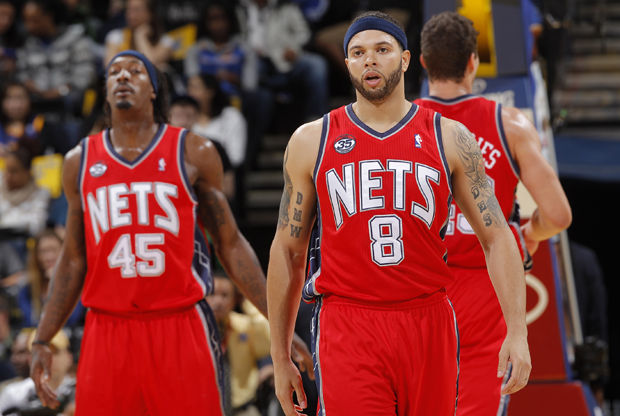 Deron Williams, Gerald Wallace y Kris Humphries./ Getty Images