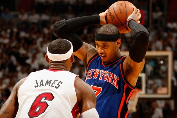 Carmelo Anthony y LeBron James./ Getty Images
