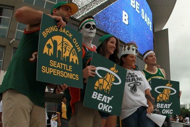Seattle Supersonics fans./ Getty Images