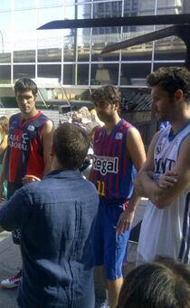 San Emeterio, Juan Carlos Navarro y Rudy Fernández./ ACB MEDIA