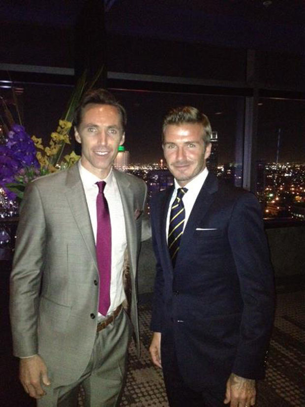 Steve Nash y David Beckham
