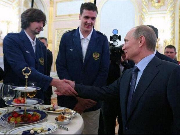 Alexey Shved y Vladimir Putin