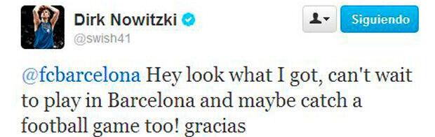 Tuit de Dirk Nowitzki