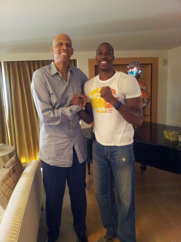 Kareem Abdul-Jabbar y Dwight Howard