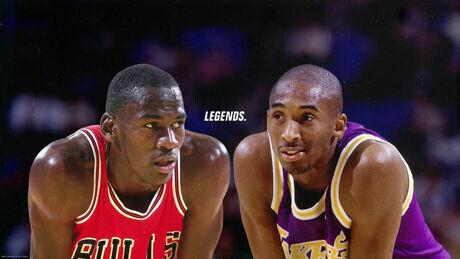Michael Jordan y Kobe Bryant./ Getty Images