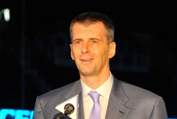 Mikhail Prokhorov, en la inauguración del Barclays Center./ Getty