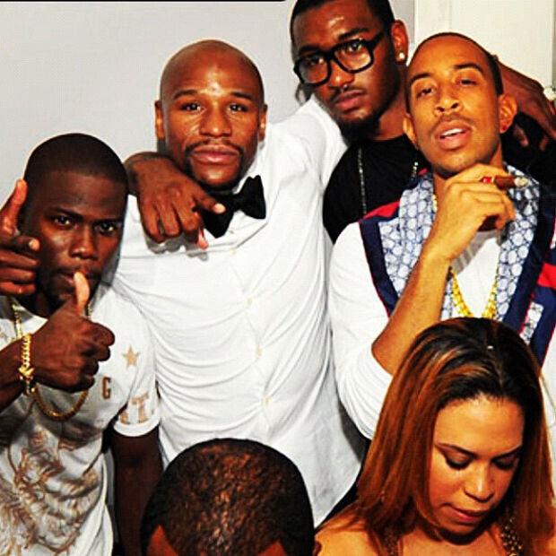 John Wall se va de fiesta con Floyd Mayweather, Ludacris y Kevin Hart