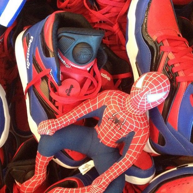 Reebok Pump Spiderman