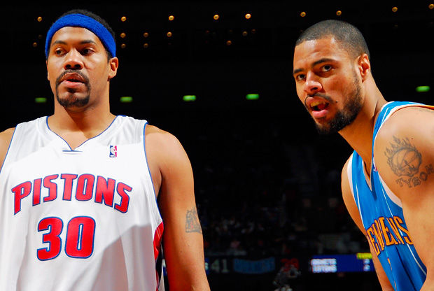 Rasheed Wallace y Tyson Chandler./ Getty