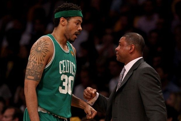 Rasheed Wallace y Doc Rivers./ Getty Images