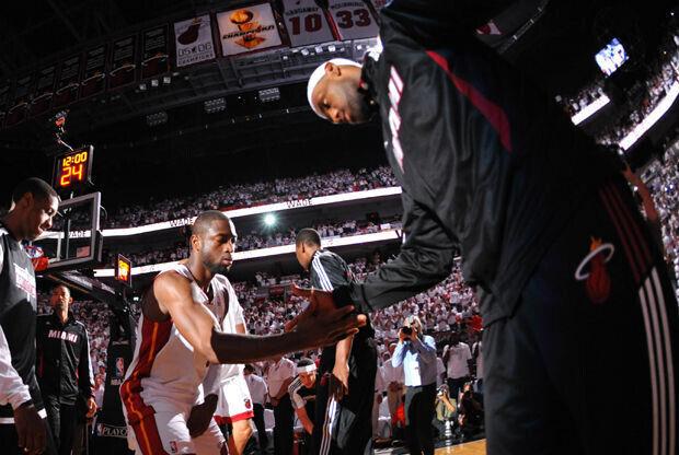 Dwyane Wade y LeBron James./ Getty Images