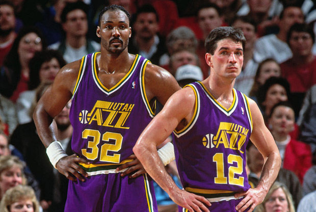 John Stockton y Karl Malone./ Getty Images