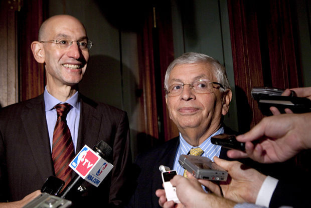 David Stern y Adam Silver./ Getty Images