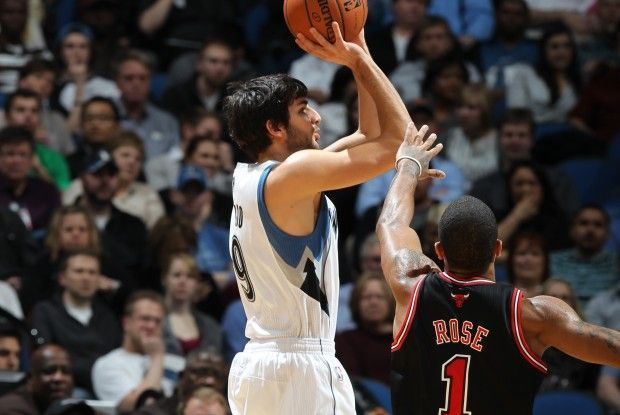 Ricky Rubio y Derrick Rose./ Getty Images