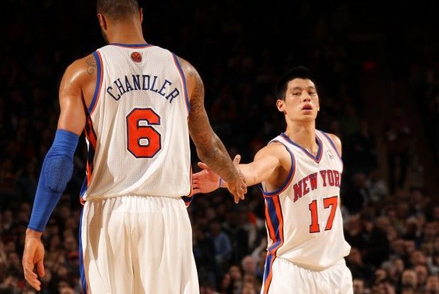Tyson Chandler y Jeremy Lin./ Getty Images