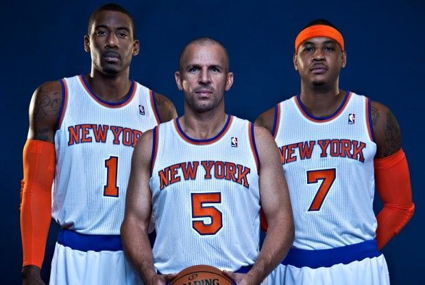 Amare Stoudemire, Jason Kidd, Carmelo Anthony./ Getty Images