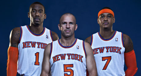 Jason Kidd, Carmelo Anthony y Amar'e Stoudemire./ Getty Images