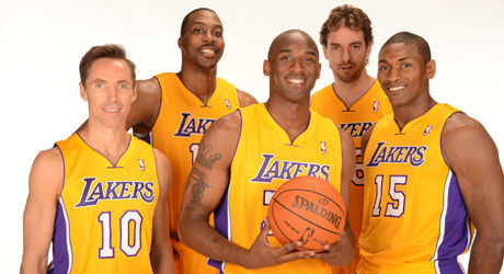 Dwight Howard, Kobe Bryant, Steve Nash, Metta World Peace y Pau Gasol./ Getty Images