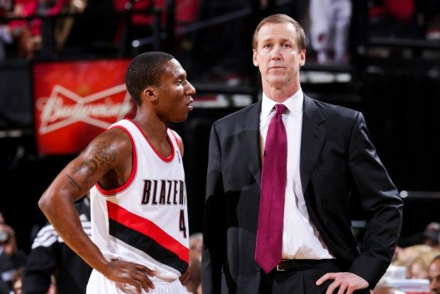 Nolan Smith y Terry Stotts./ Getty Images