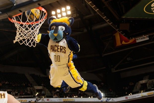 Mascota Indiana Pacers./ Getty Images