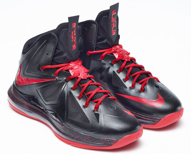 Nike - LeBron X 'Away Black/Red'