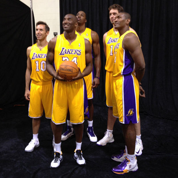 Steve Nash, Kobe Bryant, Metta World Peace, Dwight Howard, Pau Gasol
