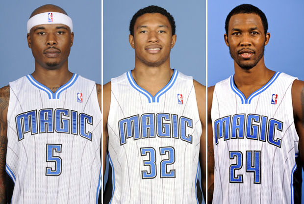 Quentin Richardson, Justin Harper y Chris Johnson./ Getty Images