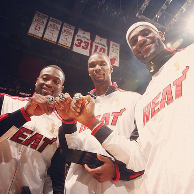 Dwyane Wade, Chris Bosh, LeBron James