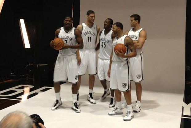 Joe Johnson, Brook Lopez, Gerald Wallace, Deron Williams, Kris Humphries