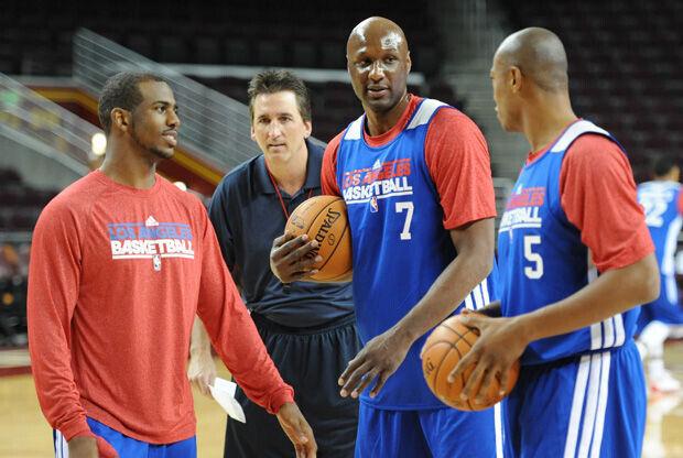 Entrenamiento de pretemporada de los Clippers./ Getty
