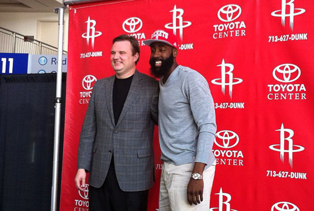 James Harden y Daryl Morey