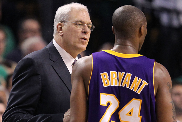 Phil Jackson y Kobe Bryant./ Getty Images