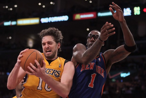 Pau Gasol y Amar'e Stoudemire./ Getty Images