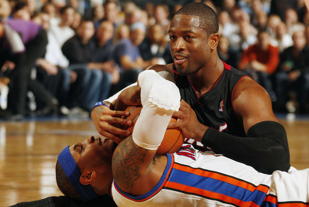 Dwyane Wade y Carmelo Anthony./ Getty Images
