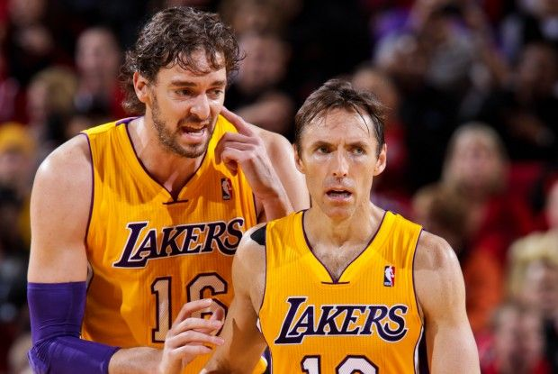 Pau Gasol y Steve Nash./ Getty Images