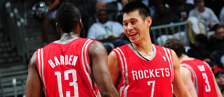 James Harden, Jeremy Lin y Omer Asik./ Getty Images