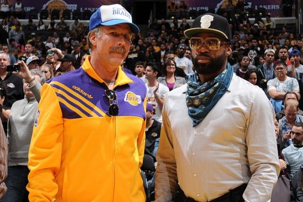 Will Ferrell y Baron Davis./ Getty Images