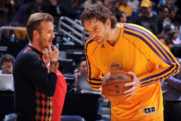 David Beckham y Pau Gasol./ Getty Images