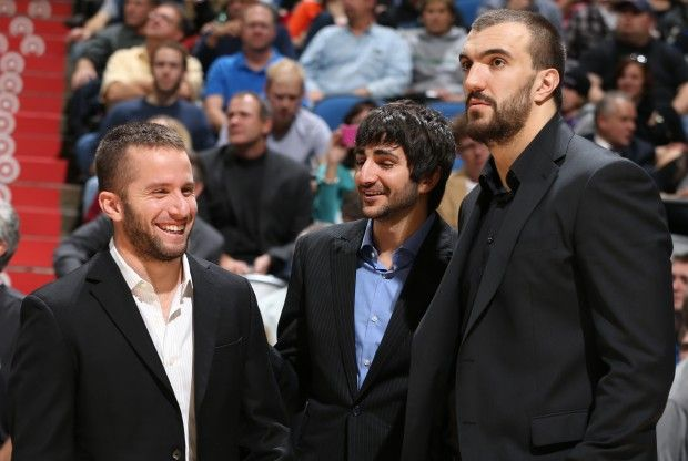 J.J. Barea, Ricky Rubio y Nikola Pekovic./ Getty Images