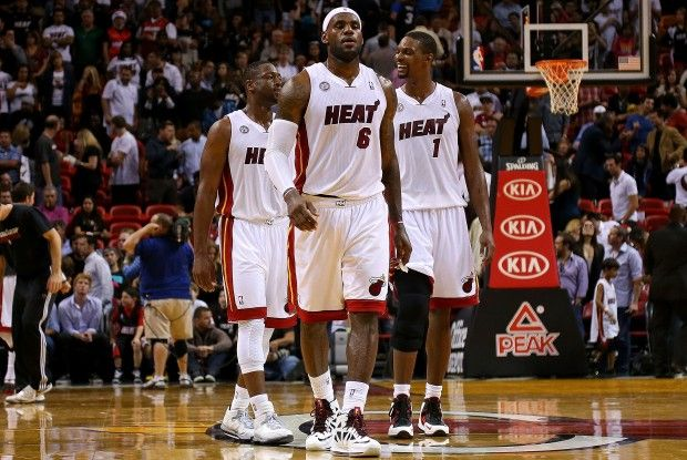 Dwyane Wade, LeBron James y Chris Bosh./ Getty Images