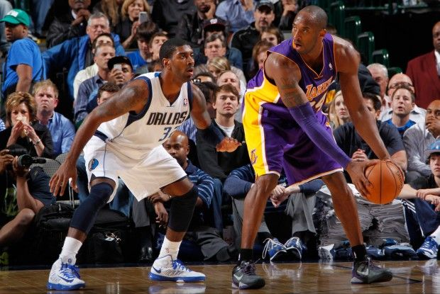 O.J. Mayo y Kobe Bryant./ Getty Images