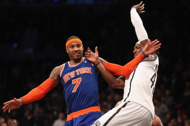 Carmelo Anthony y Gerald Wallace./ Getty Images