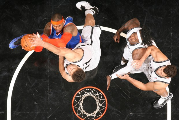 Carmelo anthony y Brook Lopez./ Getty Images